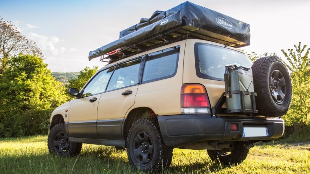 sf subaru forester spare tire carrier