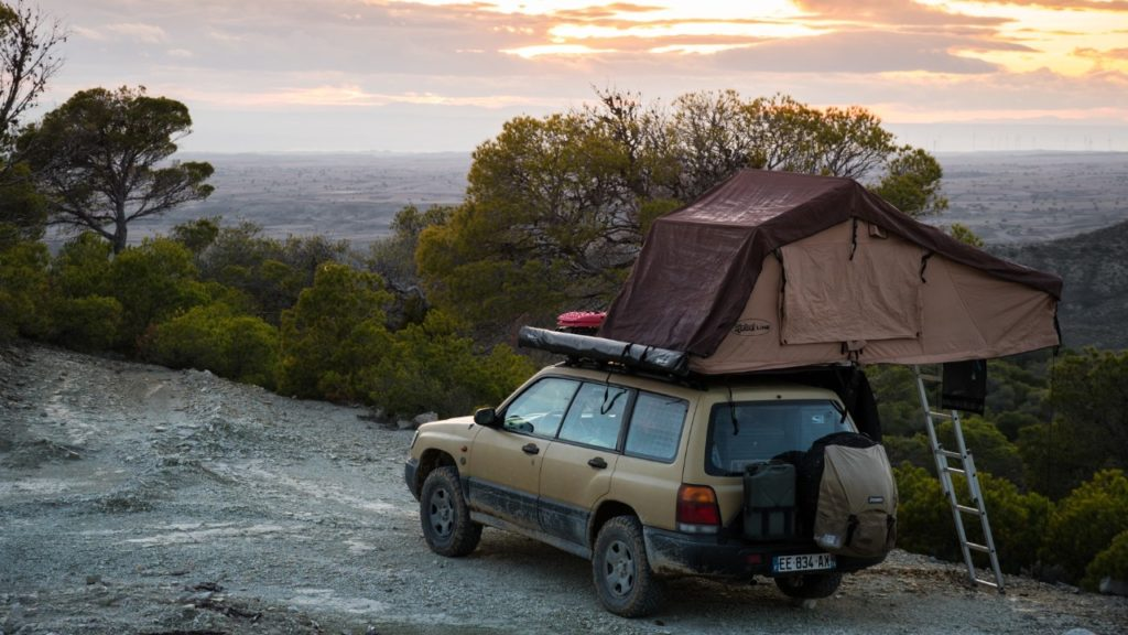 subaru forester roof top tent