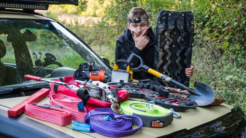 all the recovery gear you need for off roading with your subaru